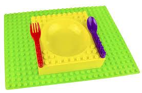 Amazon Com 4 Piece Baby by Amazon Com Placematix Kids 4 Piece Dinner Set Includes Green