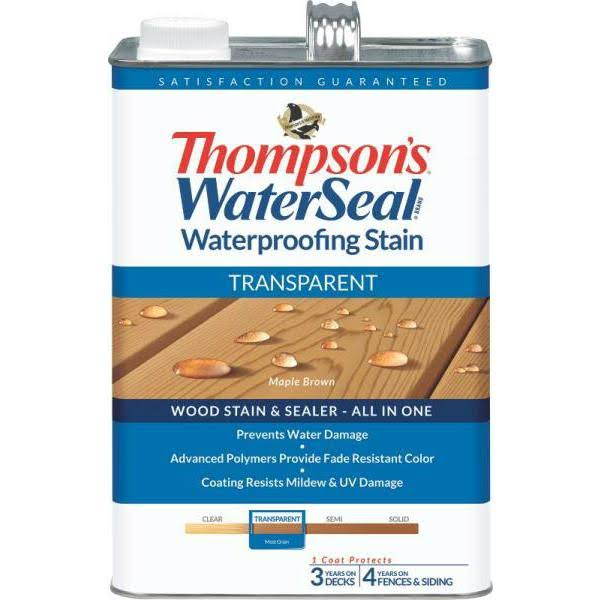 Transparent WaterSeal Waterproofing Stain - Maple Brown, 1 Gallon