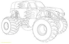 100 Monster Truck Drawing Coloring Pages S With Kids Of Draw A 5