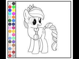My Little Pony Painting Games MLP Coloring Pages