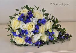Catherines Blue White And Silver Wedding Flowers New Place