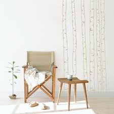 Wall Mural Decals Nature by Birch Tree Outlines Wall Decal