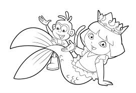 Free Coloring Pages Of Dora And Friends The Explorer Online Games Printable