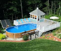 Above Ground Swimming Pool With Deck Marvelous Intended Other In