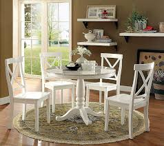 Amazon.com - Penelope Transitional Style White 5-Piece Round Dining ... Round Marble Table With 4 Chairs Ldon Collection Cra Designer Ding Set Marble Top Table And Chairs In Country Ding Room Stock Photo 3piece Traditional Faux Occasional Scenic Silhouette Top Rounded Crema Grey Angelica Sm34 18 Full 17 Most Supreme And 6 Kitchen White Dn788 3ft Stools Hinreisend Measurement Tables For Arg Awesome Room Cool Design Grezu Home