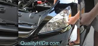 how to install hid xenon headlight bulbs in a honda accord 皓 car
