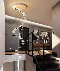 treppen flur pendelleuchte rund decke hängele moderne kreative led warmweiß wohnzimmer esszimmer hängende le kronleuchter loft treppenhaus