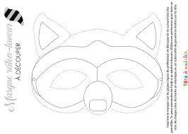Masque De Ratonlaveur à Colorier