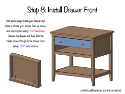 DIY Bedside Table with Drawer and Shelf Free Plans