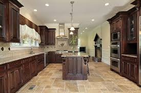 Attractive Luxury Kitchen Floor Tiles Beautiful With Dark Cabinets Winsome