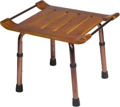 Vanity Benches For Bathroom by Adjustable Height Teak Bath Bench Stool Drive Medical