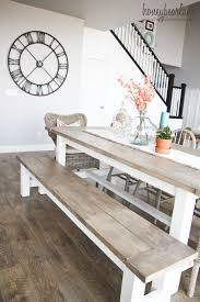 Dining Room Table Plans With Leaves Luxury Diy Farmhouse And Bench House Stuff Pinterest