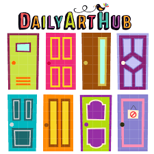 FREE Quirky Doors Clip Art Set Daily Free Art Sets