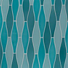 elongated ogee shaped tile it in turquoise blue for a