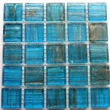 20mm 3 4 caribbean blue and gold translucent mosaic tiles