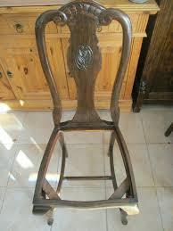 stuhl stühle antik jugendstil esszimmer hohe lehne federkern