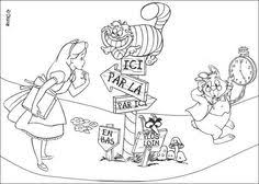 Alice In Wonderland Coloring Pages From Disney