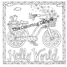 The Coloring CafeTM Book For Grown Up Girls Adult Kit With 18 Colored Pencils