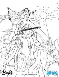 Barbie Princess And Popstar Coloring Pages Printable Sheets