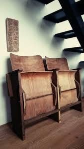 cinema siege fauteuil siège cinema bois vintage ées 40 les vieilles choses