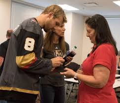 Halloween City Las Vegas Nv by Golden Knights Players Lend A Hand To Their Grief Stricken City