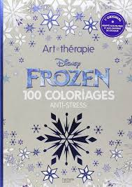 Disney Frozen 100 Anti Stress Adult Colouring Book Art Therapy