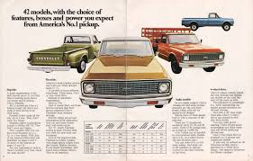 100 1971 Chevrolet Truck GM Pickup Chevy Sales Brochure