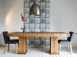 HF Plank Butchers Cube Dining Table