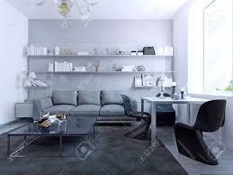 mit blick auf wohnzimmer mit esstisch modernes design aus wohnzimmer mit weißen farbige wände glascouchtisch weiß esstisch mit eleganten gotischen