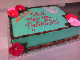 Hawaiian Themed Going Away Cake