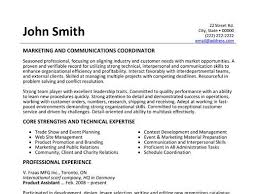 Marketing And Communications Coordinator Resume Template Want It Download