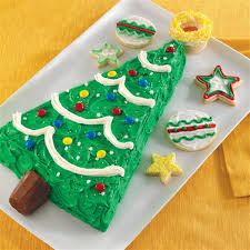 Holiday Christmas Tree Cake