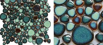 green porcelain tile pebbles bath wall backsplash tiles glazed ceramic