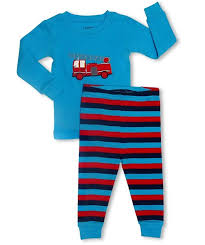 Leveret Boys Fire Truck Pajama Set 100 Cotton Size 2 Years | EBay