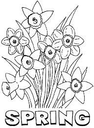 Spring Scenes Coloring Page Spri A Pages For Break Free Printable
