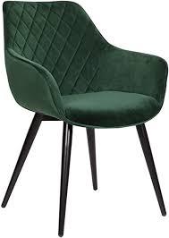 woltu esszimmerstühle bh153gn 1 1x küchenstuhl wohnzimmerstuhl polsterstuhl mit armlehen design stuhl samt metall grün