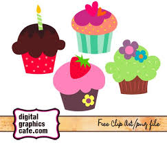 Cupcake Clip Art Vector Art Graphics Digital Graphics Caf Free 6Kpmop Clipart