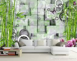 3d Wallpaper For Room Marble 3D Bamboo TV Wall Fresco Murals Living Stereoscopic Mural