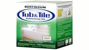 Bathtub Refinishing Kit Homax by Rust Oleum 7860519 Tub And Tile Refinishing 2 Part Kit White Youtube