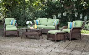 Sams Patio Seating Sets by Amazon Com La Z Boy Outdoor Sawyer 6 Piece Resin Wicker Patio