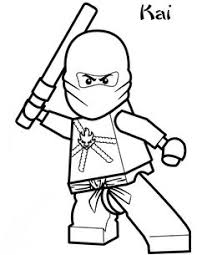 Lego Ninjago Coloring Pages Kai