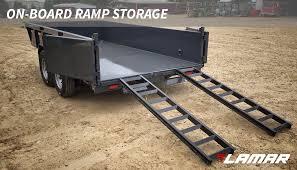 100 Dump Truck Storage Lamar Low Profile Dump Trailer Onboard Ramp Storage Lamar Trailers