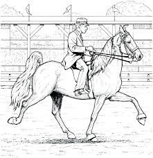 Printable Arabian Horse Coloring Pages For Adults With Realistic 7 Info