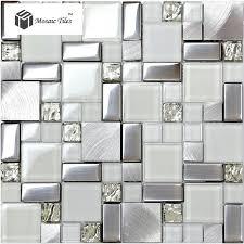 Bathroom Mosaic Mirror Tiles by Tst Glass Metal Tile Frosted Glass Silver Steel Glitter Bathroom