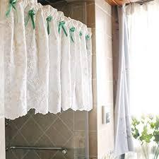 curtains weiß kurzgardine für küche wohnzimmer badezimmer cotton scheibengardinen stickerei bistrogardinen heim dekoration 1 stück