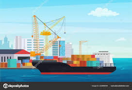 100 Truck And Transportation Logistics Truck And Transportation Container Ship Cargo Harbor Port