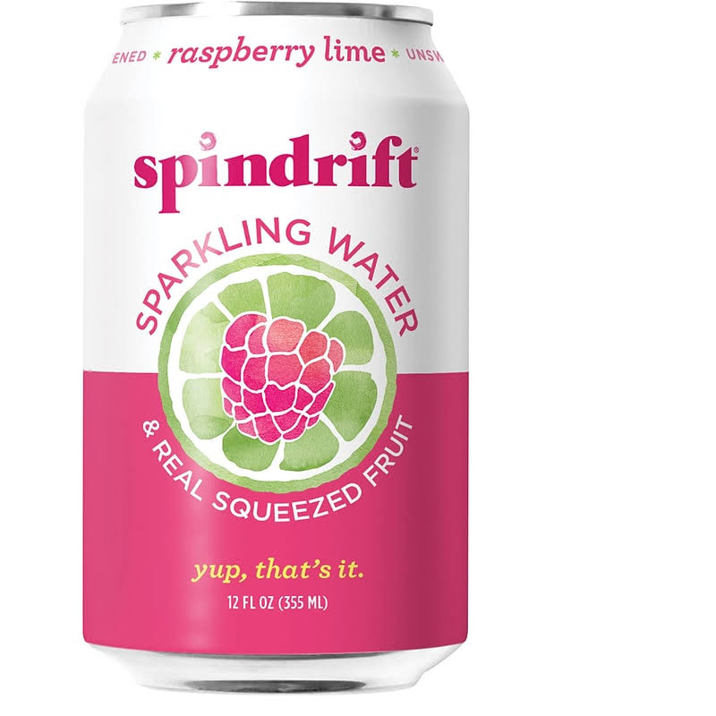 Spindrift Sparkling Water, Raspberry Lime - 24 pack, 12 fl oz cans