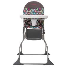 Cosco Simple Fold Full Size High Chair With Adjustable Tray, Bloom -  Walmart.com