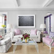 lavender sofa gray walls living room with light gray living room
