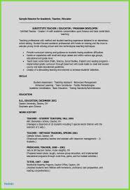 Unique Resume Sample For Teacher Daycare Examples
